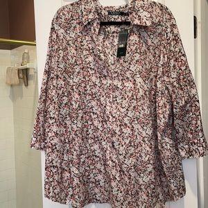 3x Ralph Lauren cotton/silk NWT 3/4 sleeve shirt